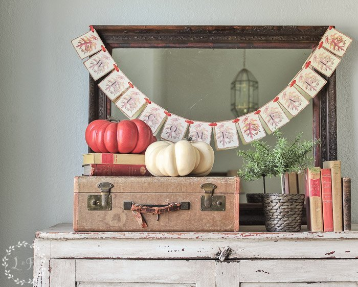 "5 Step ""Welcome Fall"" Banner and Free Printable"