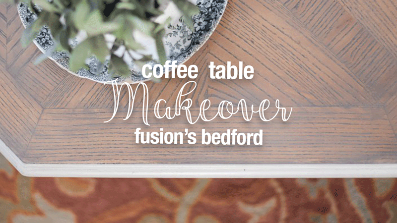 Painted Coffee Table Makeover { Fusion Mineral Paint Bedford }