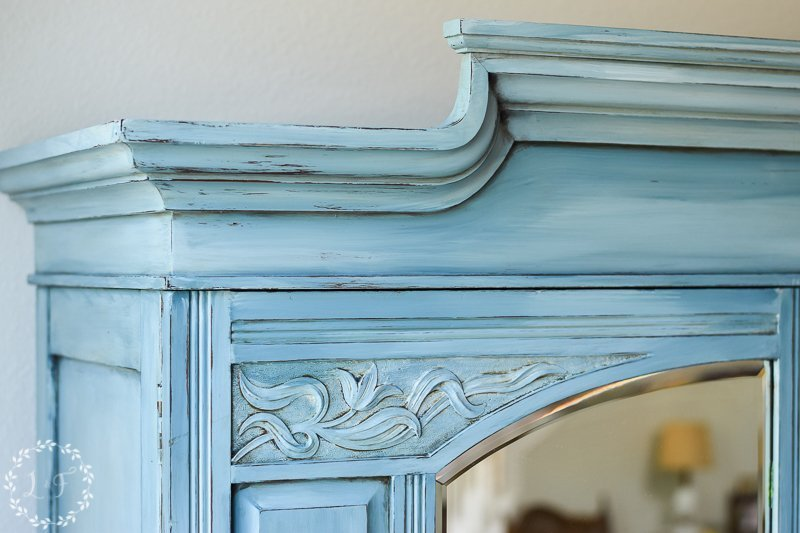 Color Blending with Fusion Mineral Paint { Painted Armoire Makeover }