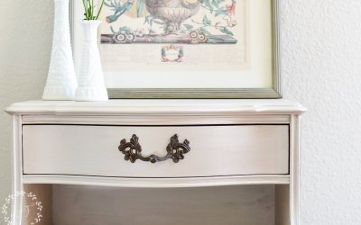 Metallic French Provincial Nightstand Makeover