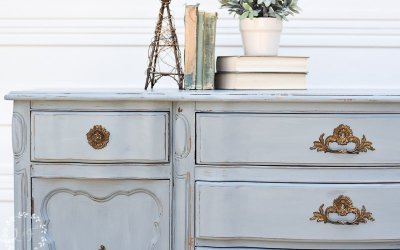 French Provincial Buffet Makeover with Aviary Milk Paint