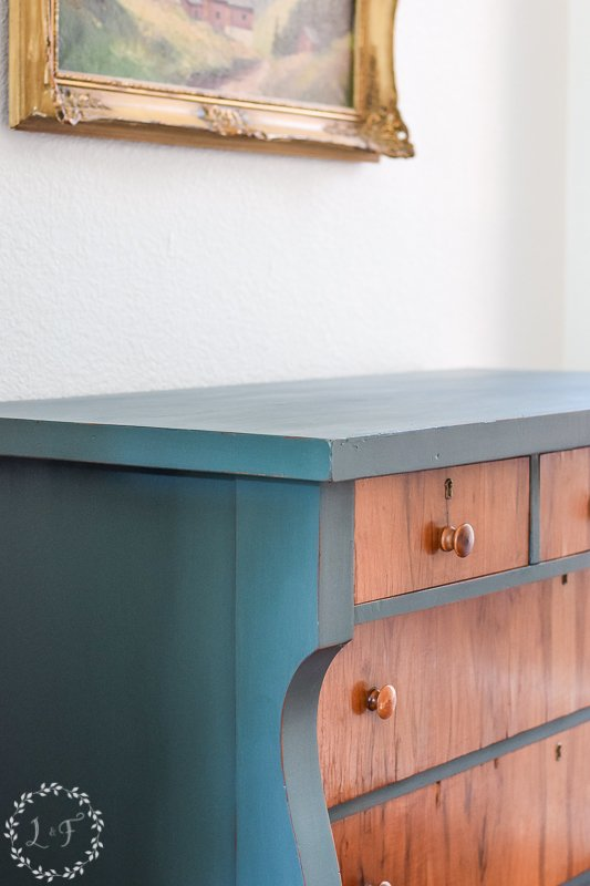 antique empire dresser makeover with fusion mineral paint 3