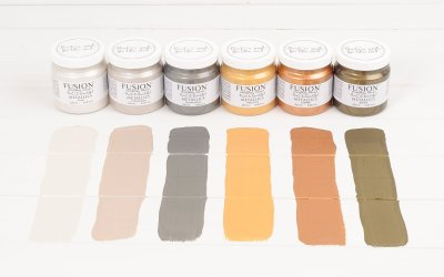 How to Paint Furniture with Metallic Paint