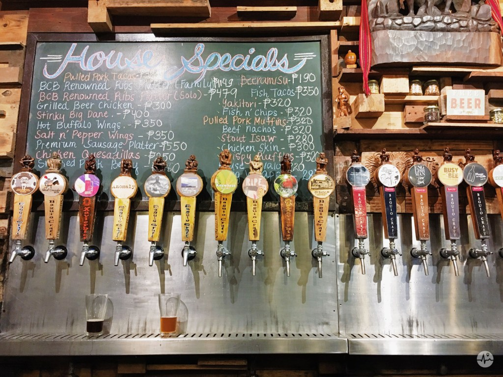 Uniquely designed beer taps from Baguio Craft Brewery