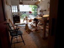 Peter's view from his home storeroom and workbench area.