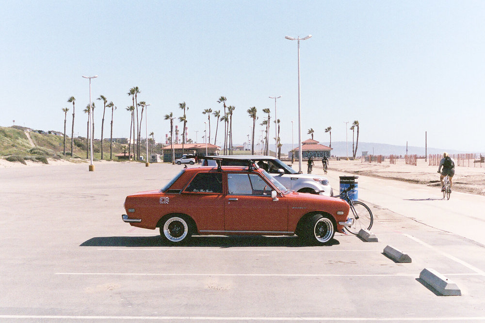 Vintage Datsun at Venice Beach California Canon AE-1 Program Fujifilm 400NPH Expired Film(22 of 36)