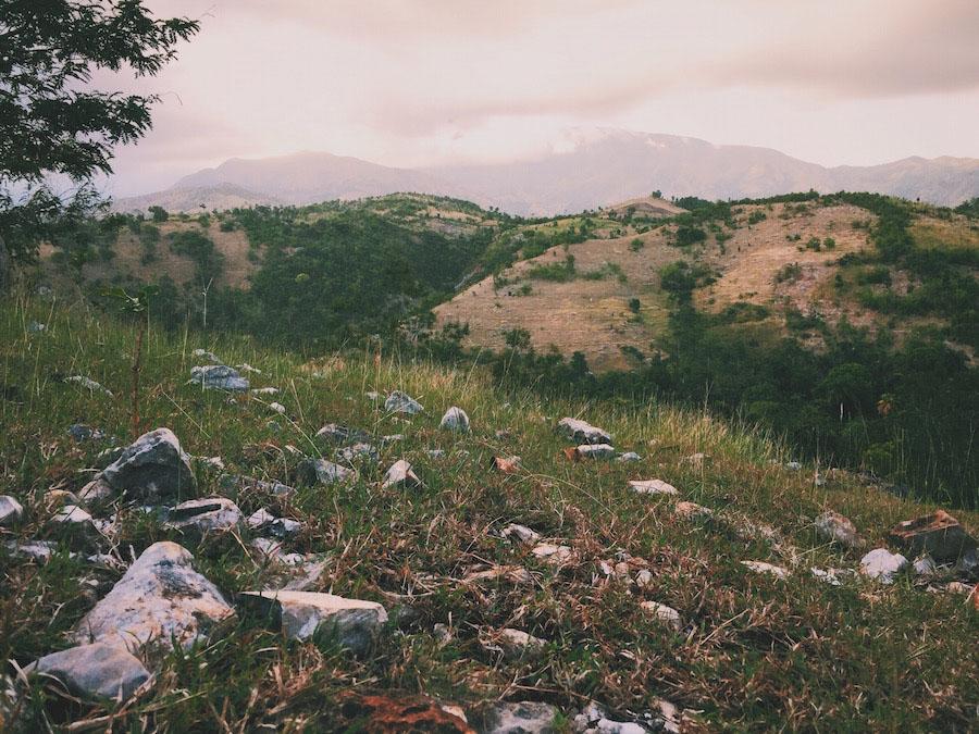 Lush green valley in Camp-Perrin Haiti.