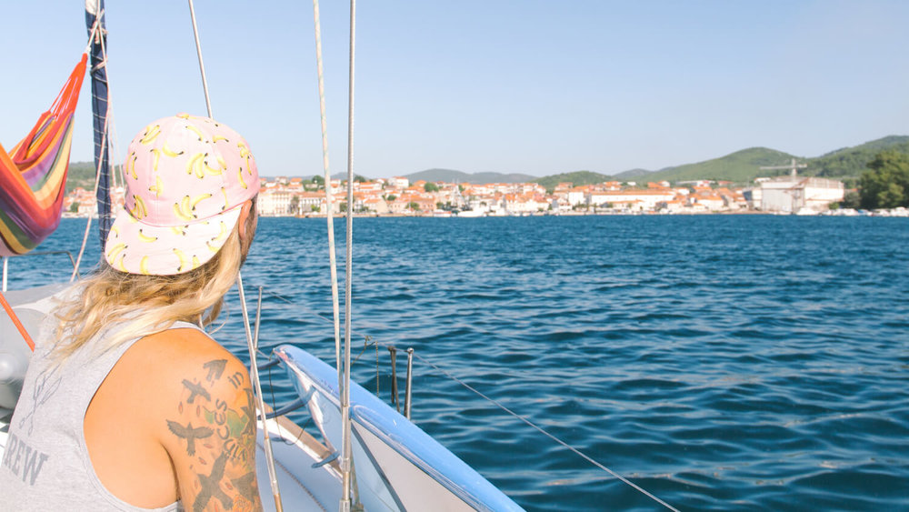 Me looking out at Vela Luka Croatia