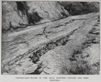Earthquake Cheviot cracks