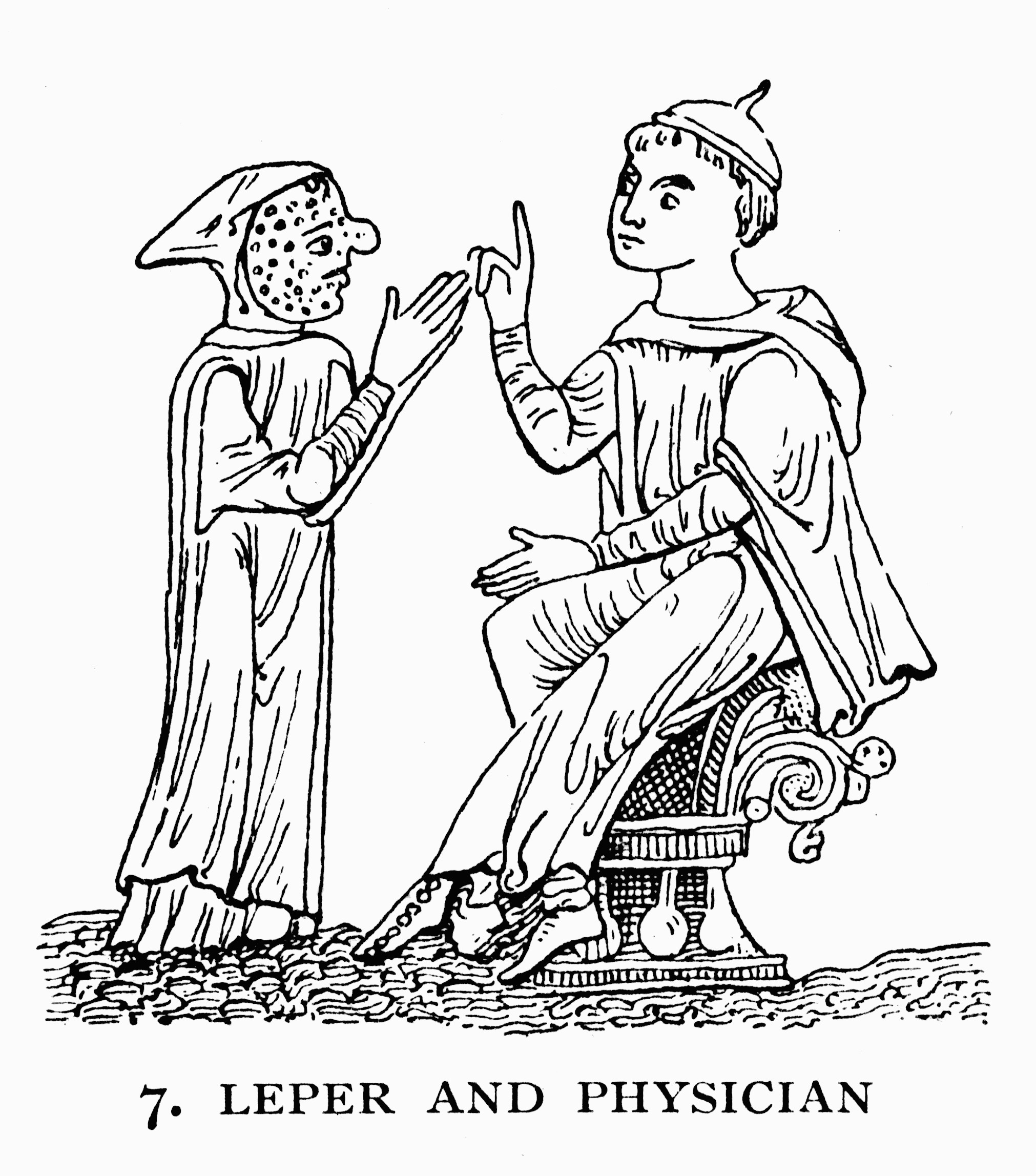 Expulsion of a leper (City of London letter-book, 1372