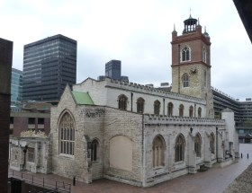 Exterior of St Giles Cripplegate