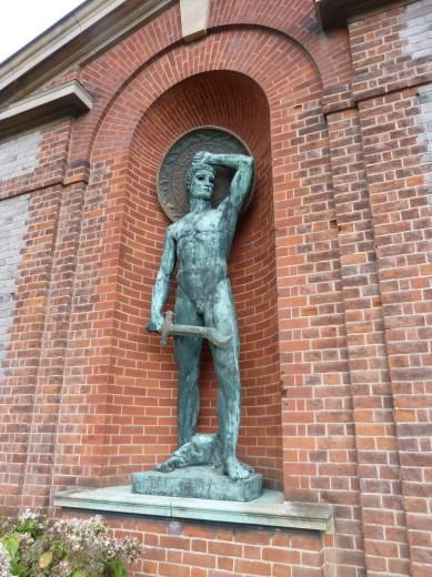 Art deco bronze statue