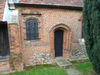 3 - South side of Medieval to post-Medieval chancel (with Norman stone-work and Tudor brick-work)
