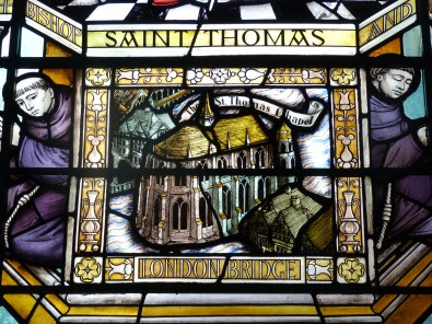 Detail of St Thomas window, St Magnus