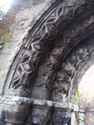 7 - Detail of Norman arch from Merton Priory