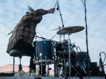 Spliff Moth- Luke thrashin' on the drum throne