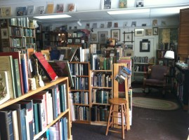 A diverse selection of antiquarian books in Shellburn Falls Bookseller