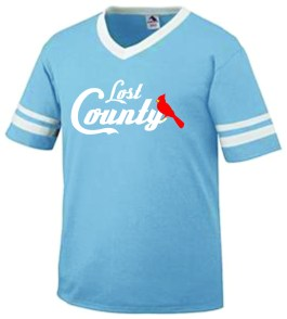 Striped Jersey Tee Carolina/Charger Blue