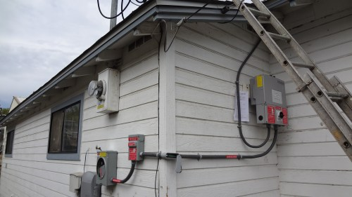 small resolution of a good look at the full raceway dc into the inverter three wires ac out four wires 3 4 pvc is my raceway from inverter to ac disconnect 1 2 was nec