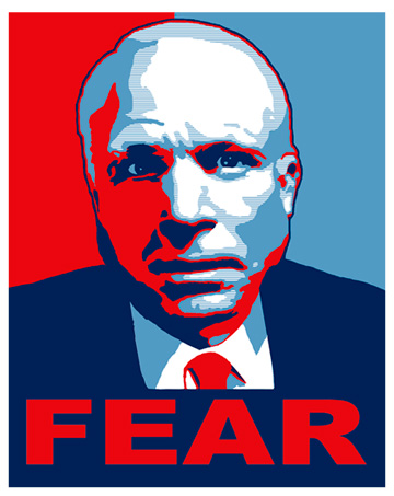 Wasn't this his official campaign poster?
