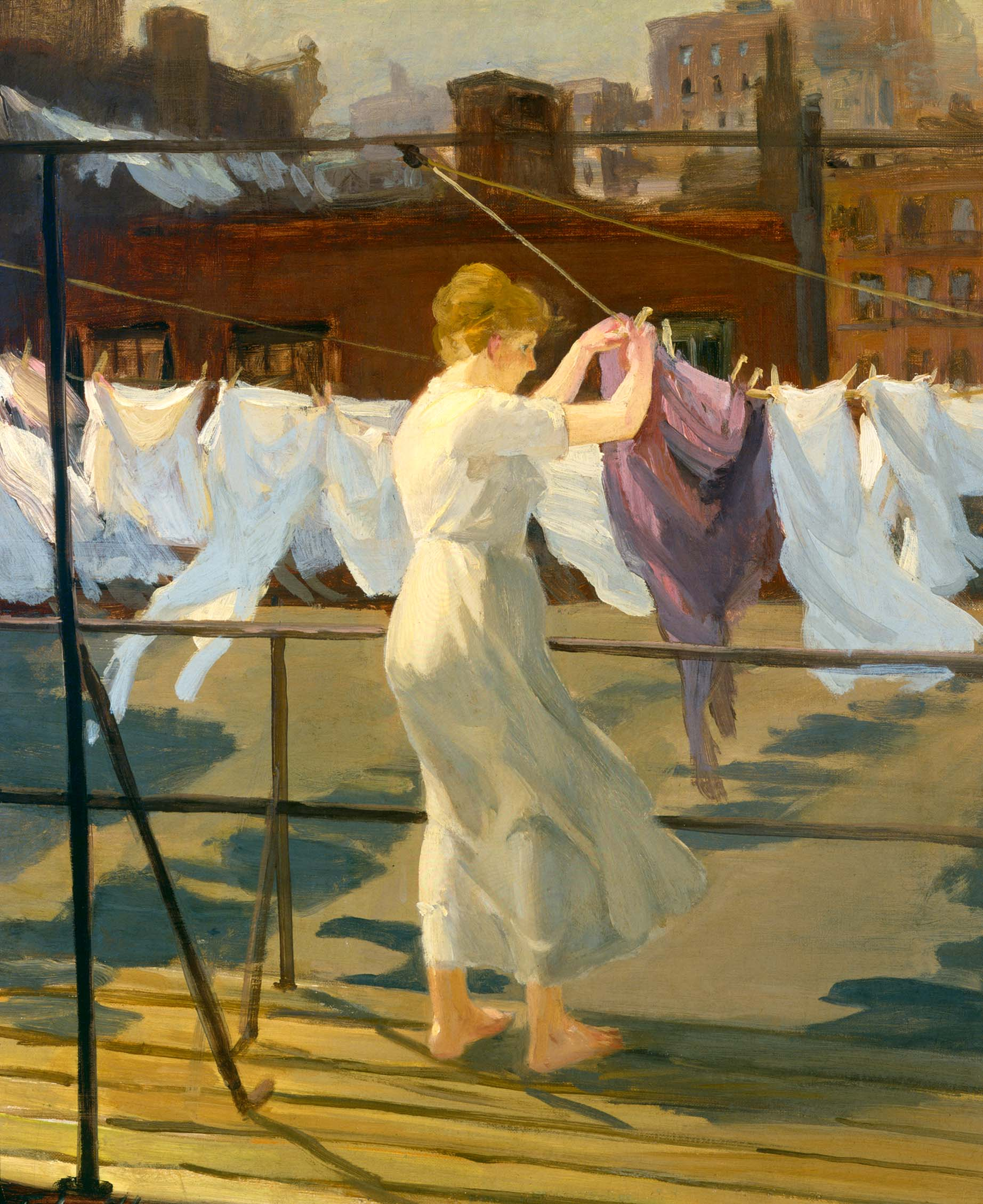 Sun and Wind on the Roof, by John Sloan