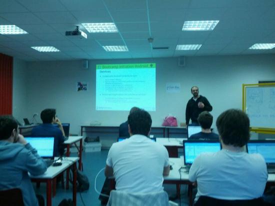 Bootcamp Android à l'ISEN samedi dernier