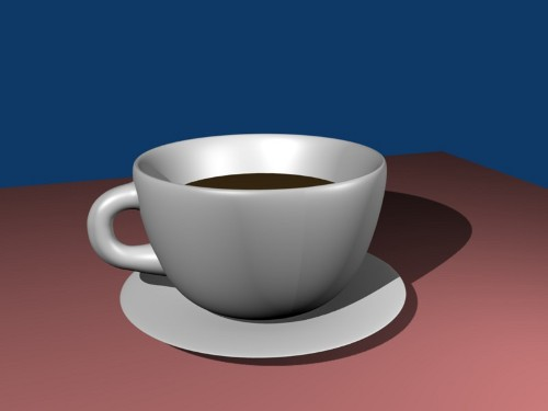 Hot 3D coffee