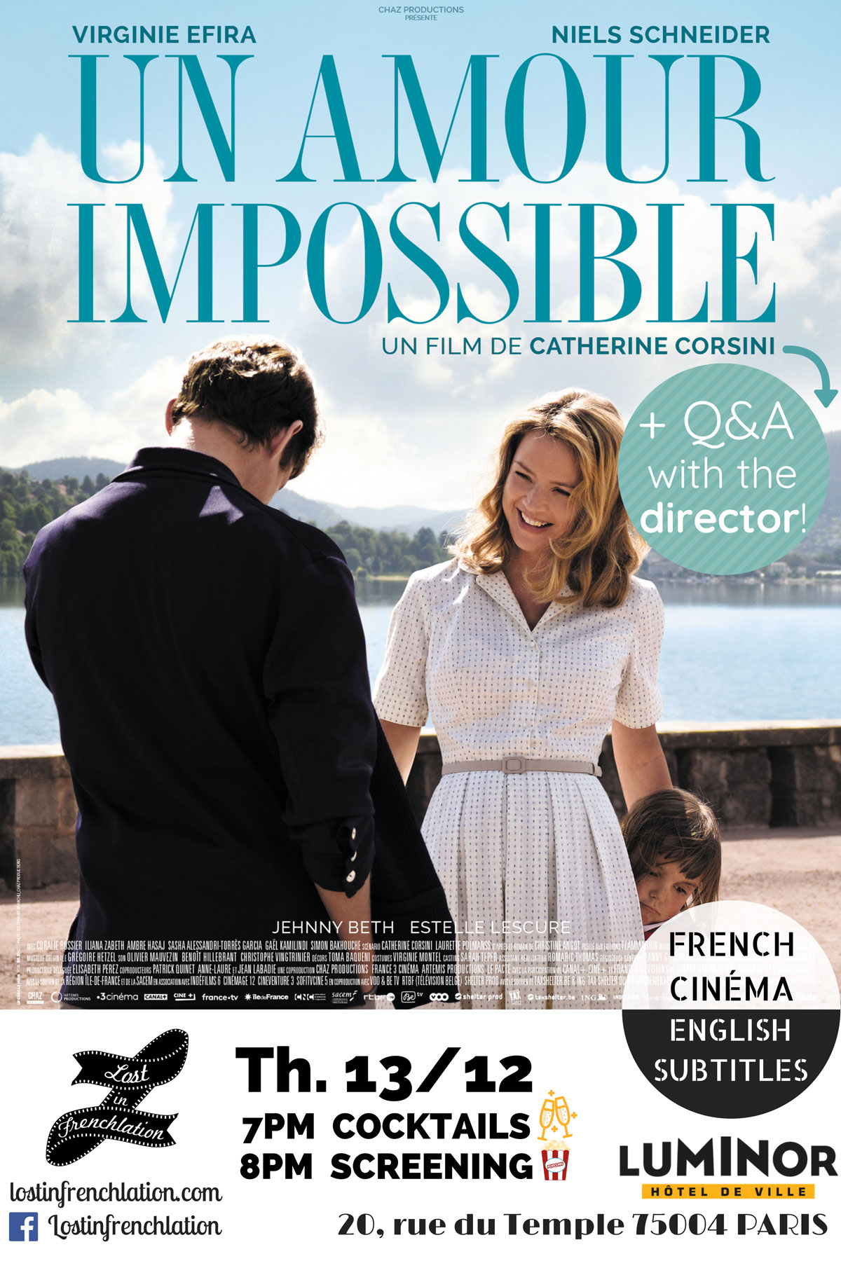Un Amour Impossible (film) : amour, impossible, (film), Amour, Impossible, Director, Frenchlation, French, Films, English, Subtitles, Paris
