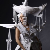 Impeccable Mongolian Wedding Outfits Made of Paper