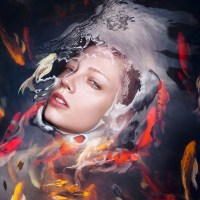Portraits Of People Half Submerged In Water