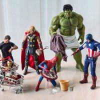 Funny Photos Tap into Superhero Figures' Normal Lives