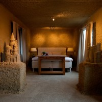 Life-Sized Sand Castle Hotels