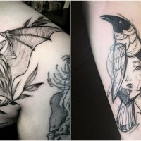 These Tattoos Resemble Unfinished Illustrations