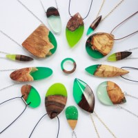 Make a Statement With Wood and Resin Jewelry