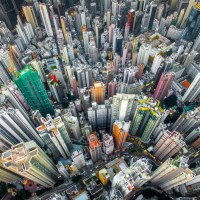 Hong Kong's Overpopulation Seen From Above