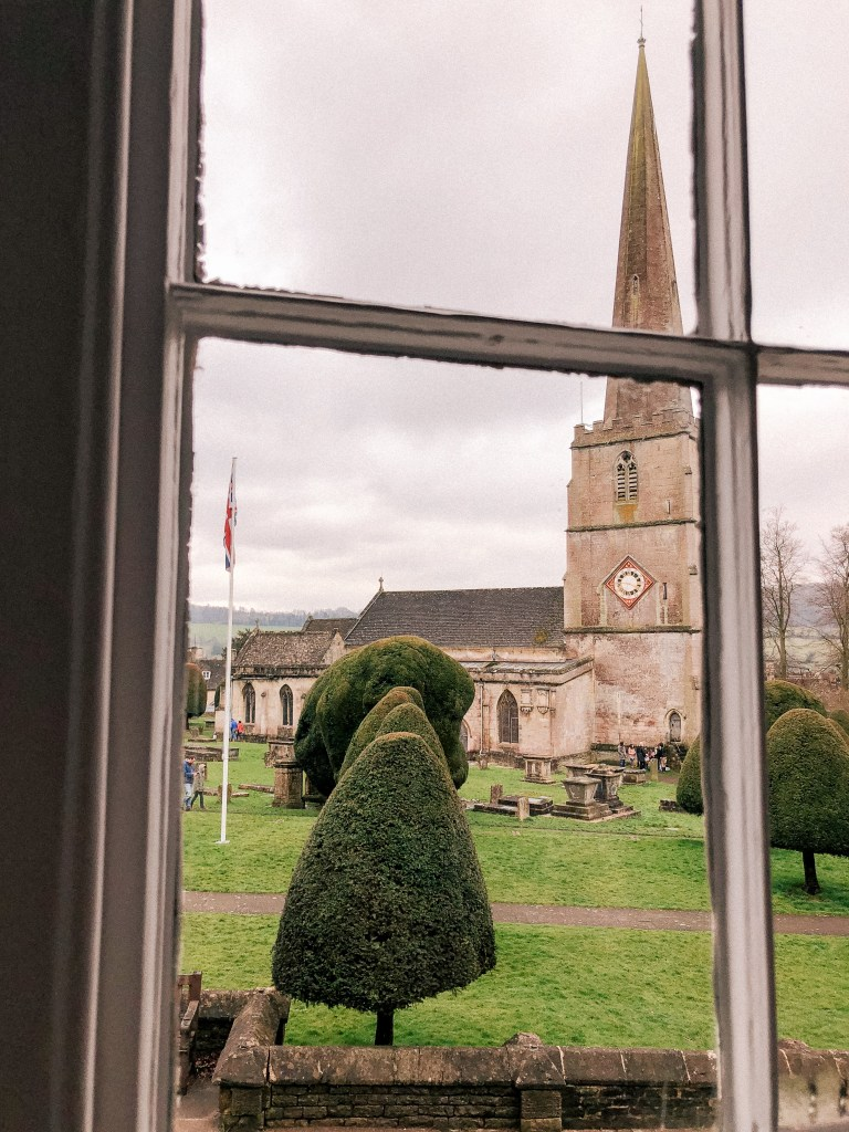 Painswick, Stroud, Gloucestershire, UK, English Countryside, The Cotswolds, The Falcon Inn, St. Mary's Church