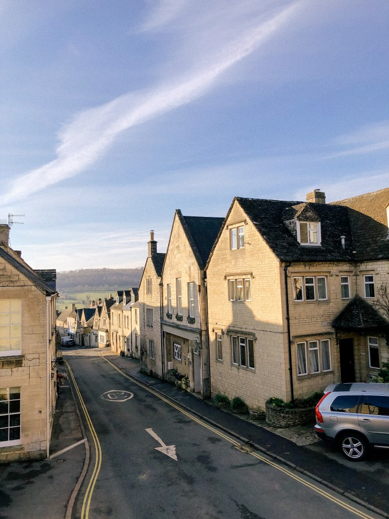 Painswick, Stroud, Gloucestershire, UK, English Countryside, The Cotswolds, Airbnb, Where to stay in Painswick, Hotels in cotswolds, narrow streets, spring, easter, blue skies