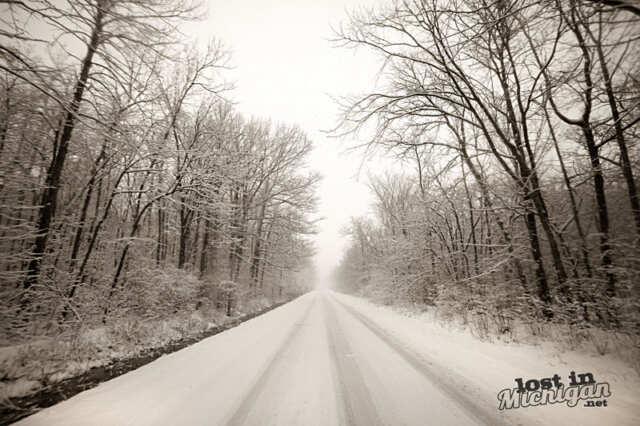 Michigan Snow Road