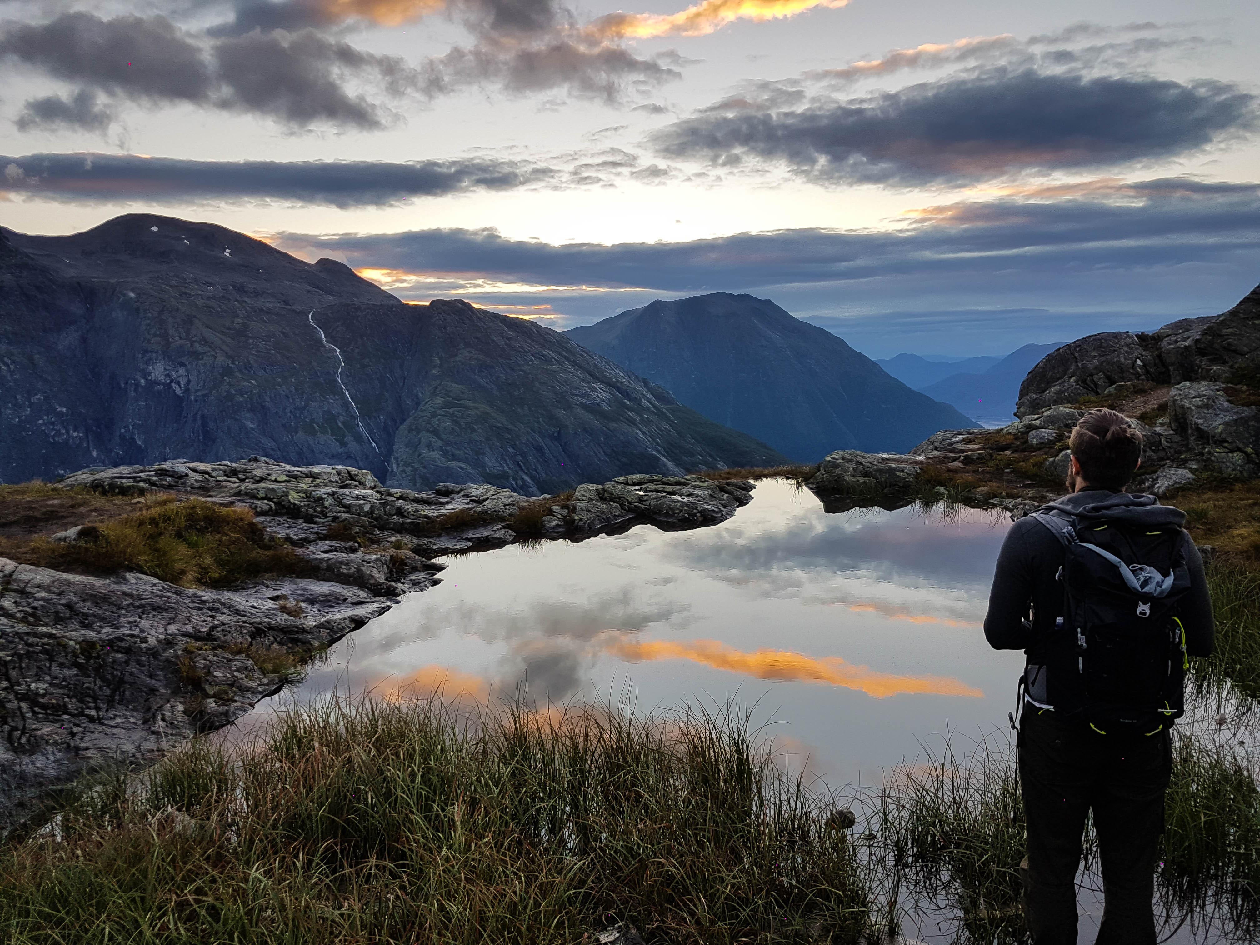 Prachtige zonsondergang op Litlefjellet