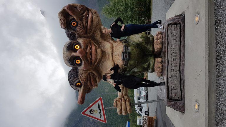 Trollstigtrollet op de Trollstigen camping