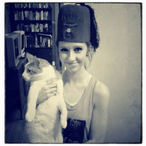 Day 7: A Girl and Her Cat and Her Fez