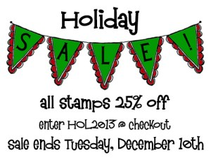 Holiday 2013 Sale blog