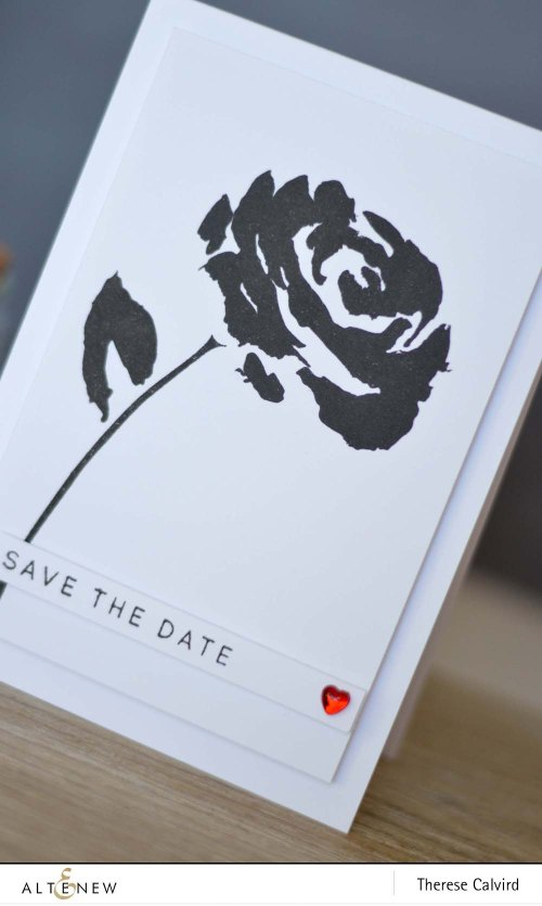 Altenew Painted Rose Save the Date - Detail copy