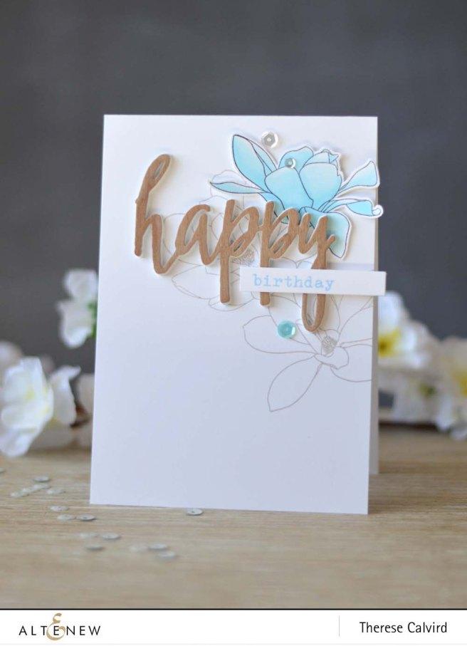 Lostinpaper - Altenew - Magnolias for Her - Birthday Greetings - Happy Die - Chameleon (video) (2) copy