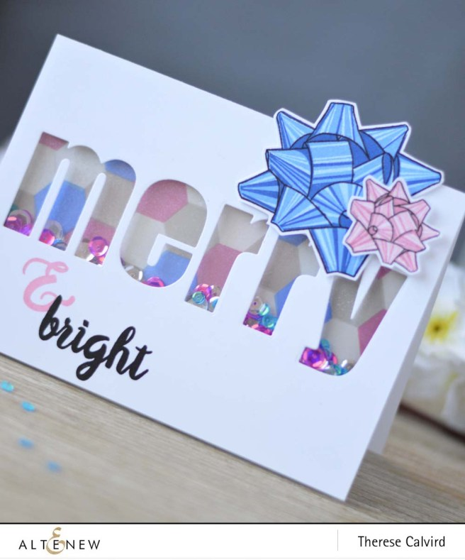 lostinpaper-altenew-bold-alphabet-die-bells-and-bows-simple-shapes-sketched-evergreen-pretty-pink-posh-sequins-shaker-card-video-1-copy