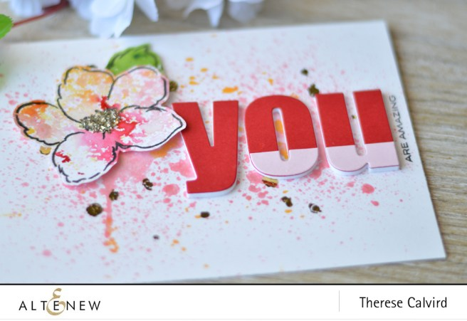 Lostinpaper - Altenew - Release - Ink Spray - Hibiscus Bouquet (card video) 1 copy