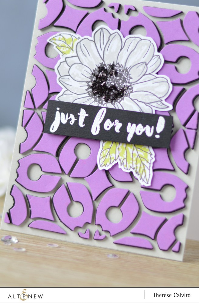 Altenew - Layered Medallions Cover Die B - Spring Daisy - Painted Greetings - Lostinpaper (card video) 1 copy