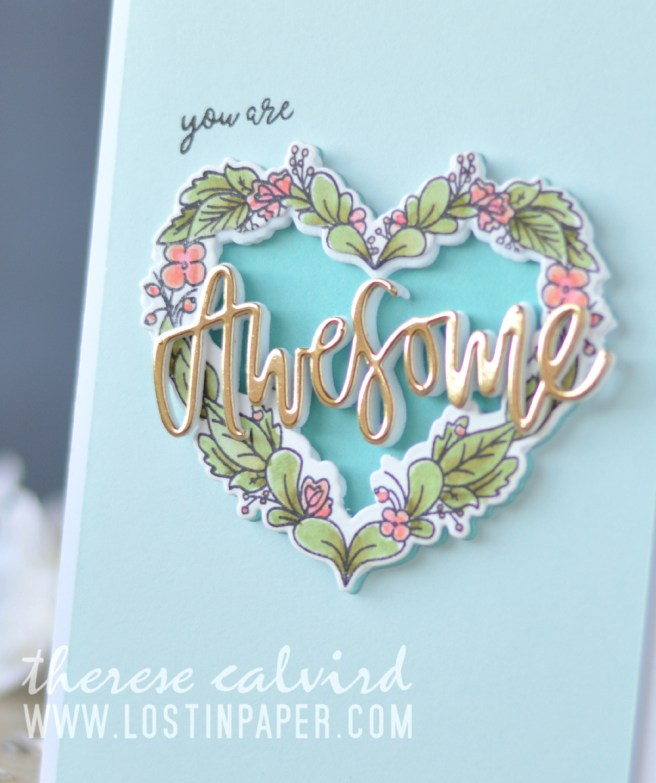Lostinpaper - Neat & Tangled - Floral Heart - My Favorite Nut - Awesome (card video) 1