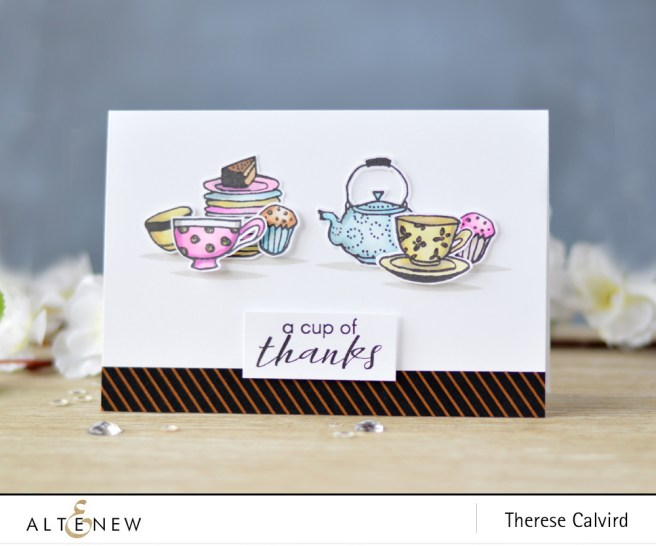 Altenew - Tea Time - Vintage Tea Cup - Lostinpaper (card) 1 copy