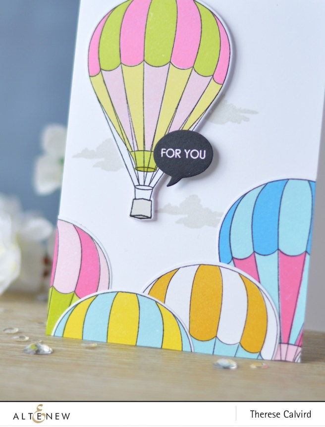 Altenew - Baby Balloon - Handmade Tags - Be a Lighthouse - Wood Veneer - Lostinpaper (card) 1 copy